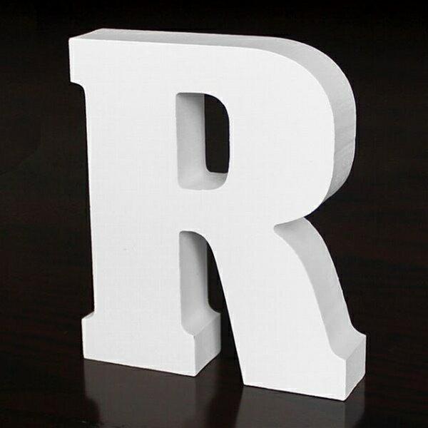 ホワイトウッドレター R 高さ10cmの写真