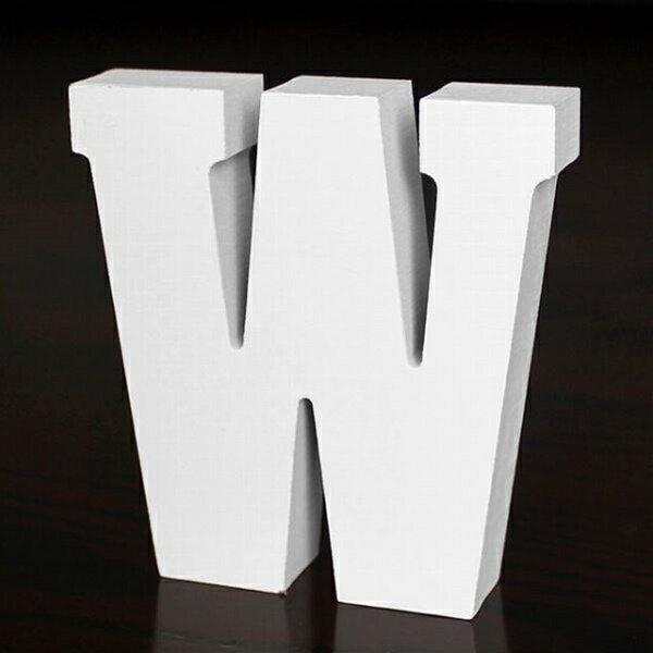 ホワイトウッドレター W 高さ10cmの写真