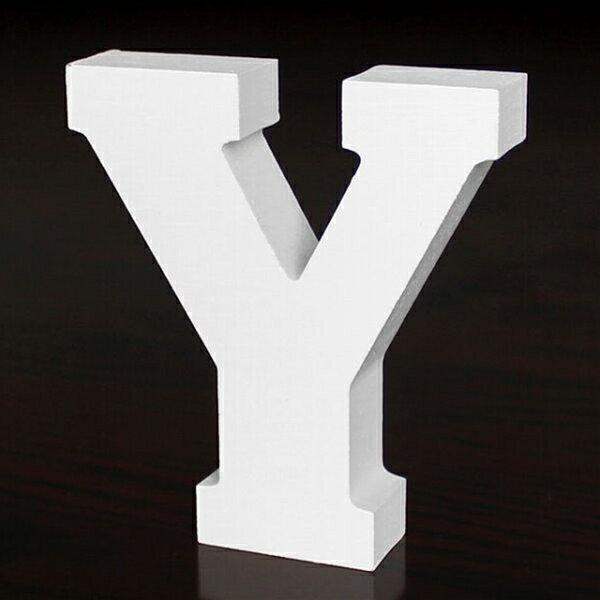 ホワイトウッドレター Y 高さ10cmの写真