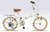 My pallas M-260 20インチ 6段ギア 折畳自転車 アイボリー