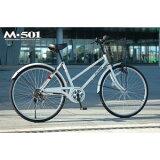 MY PALLAS マイパラス シティサイクル 2インチ6・6SP ホワイト M-501-W