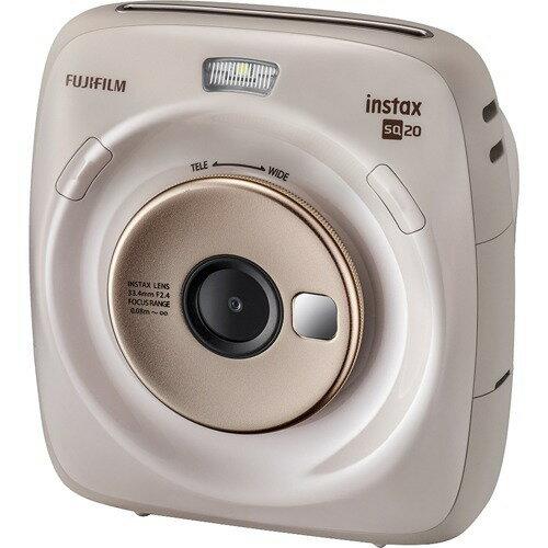 Fujifilm ハイブリッドインスタントカメラ Instax Square Sq20 ベージュ119mmx127mmx50mm(突起部除く) Ins Sq 20 Beige