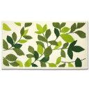 オカ 日本製 ウィルトン織り 抗菌 防臭  プレミアム ウィルトン リーフグリーン ホームマット 約60×110cm アイボリー