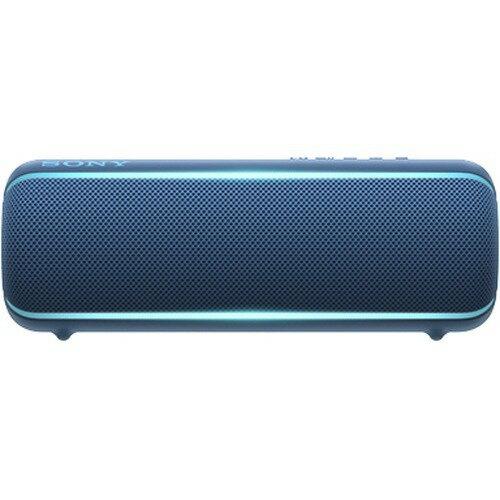 ソニー Sony ワイヤレスポータブルスピーカー Srs-xb22 : 防水 防塵 防錆 Bluetooth 重低音モデル 最大12時間連続再生 2019年モデル ブルー Srs-xb22 L
