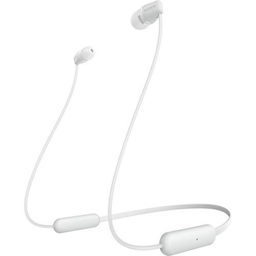 ソニー Sony ワイヤレスイヤホン Wi-c200 : Bluetooth対応最大15時間連続再生マイク付き 2019年モデル ホワイト Wi-c200 Wc