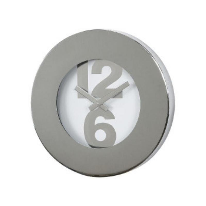 スパイス SPICE エッジ ナンバー ボールド リム ウォール クロック EDGE NUMBER BOLD RIM WALL CLOCK SILVER 30cm TELR1020SV