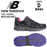 ニューバランス OUTDOOR TRAIL RUNNING WT610GT4D GRAY 22.0