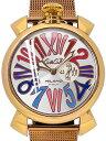 GaGa MILANO ガガミラノ メンズ 腕時計 クオーツ スリム 46 プラカット オロ SLIM 46 PLACCATO ORO 5081.1