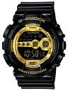 CASIO G-SHOCK 腕時計GD-100GB-1 ブラック×ゴールド