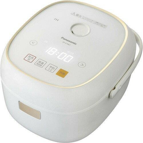 パナソニック IHジャー炊飯器 3.5合炊き SR-KT067-W ホワイト(1台)