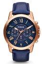 FOSSIL メンズ腕時計 グラント クロノグラフ ネイビー/ローズゴールド/ネイビー FOSSIL GRANT FS4835 kb