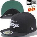 New Era 59Fifty Kids Cap Los Angels Kings Under Visor Black Kelly White