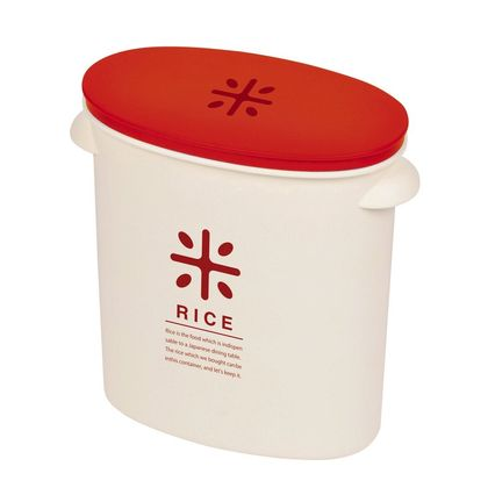 RICE お米袋のままストック 5kg用 レッド(1コ入)の写真