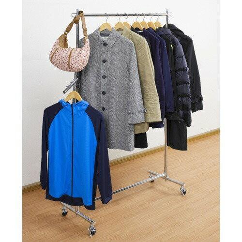 全体耐荷重85kgで衣類をたっぷり収納できる ハンガープロシングル クローム(1台)の写真