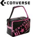 CONVERSE/コンバース C1612052-1961 エナメルショルダーバッグ ブラック×ピンク