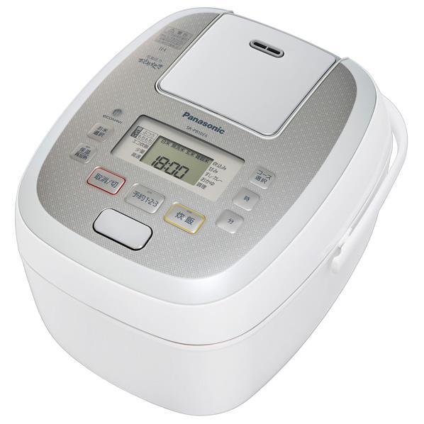 パナソニック 可変圧力IH炊飯ジャー 5.5合炊き KuaL 可変圧力おどり炊き ホワイト SR-PB10E6-Wの写真