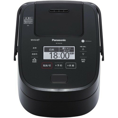 Panasonic Wおどり炊き スチーム 可変圧力IHジャー炊飯器 SR-VSX109-Kの写真