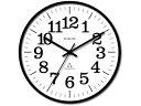 スターライン SWR-1181BK ブラック スタンダード電波クロック 電波掛け時計 ガラス/ステップ秒針