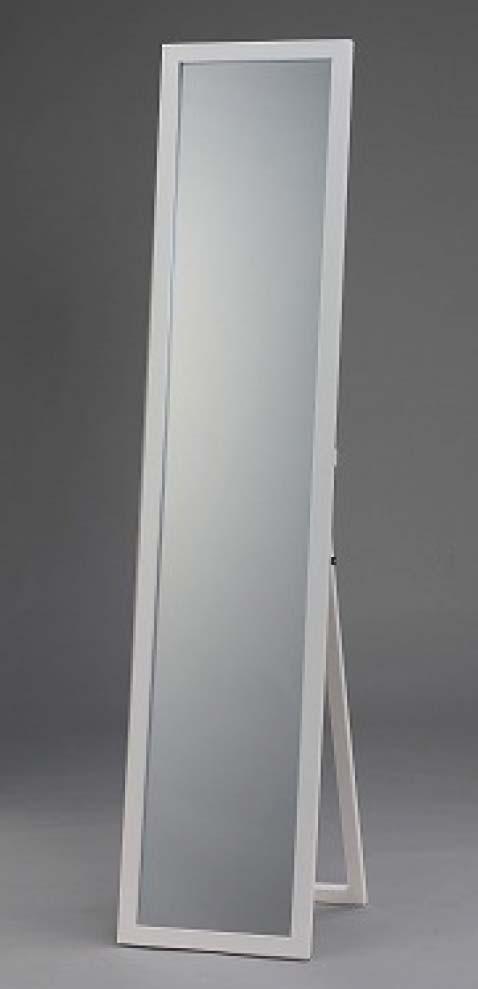 WILL 鏡面仕上げ木製スタンドミラー ホワイト MS-33L(WH)の写真