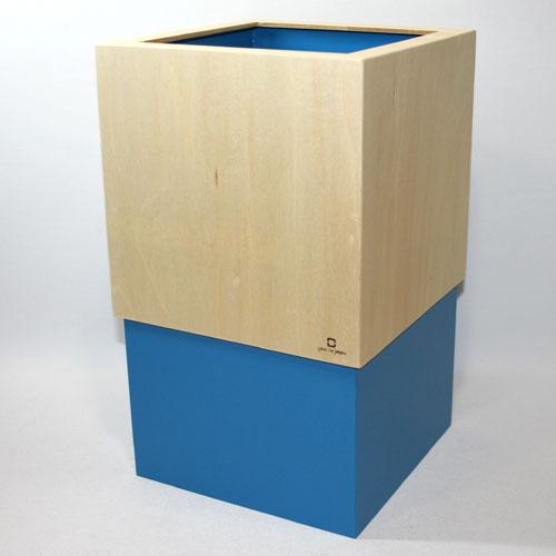 ダブルキューブ ダストボックス ライトブルー YK06-012LbL(1コ入)