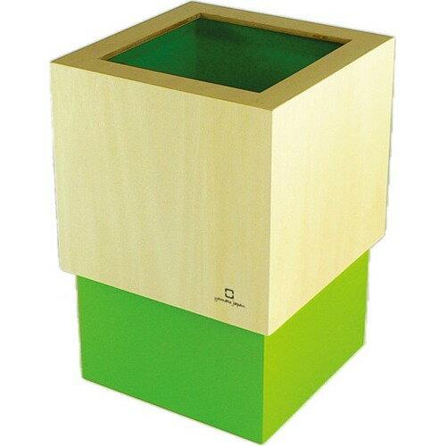 ダブルキューブ ダストボックス ライトグリーン YK06-012Lgr(1コ入)