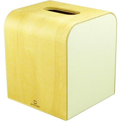 カラー ミニ ティッシュケース ホワイト YK08-103Wh(1コ入)の写真