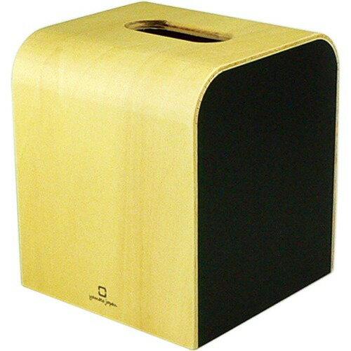 カラー ミニ ティッシュケース ブラック YK08-103Bk(1コ入)の写真