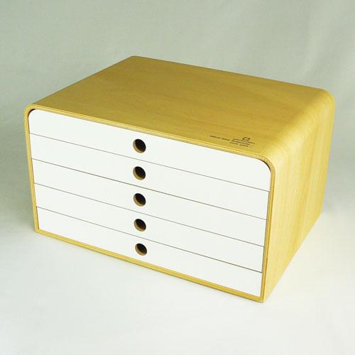 ヤマト工芸 ファイルケース A4 FILE CASE-5段- YK09-118-N/Wh ホワイトの写真