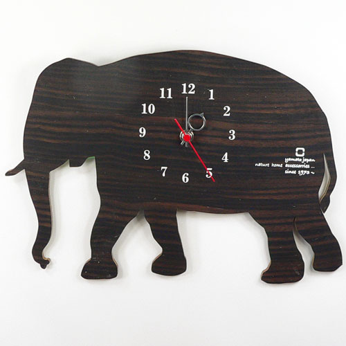 ヤマト工芸 掛時計 SHADOW W YK10-104 ゾウの写真
