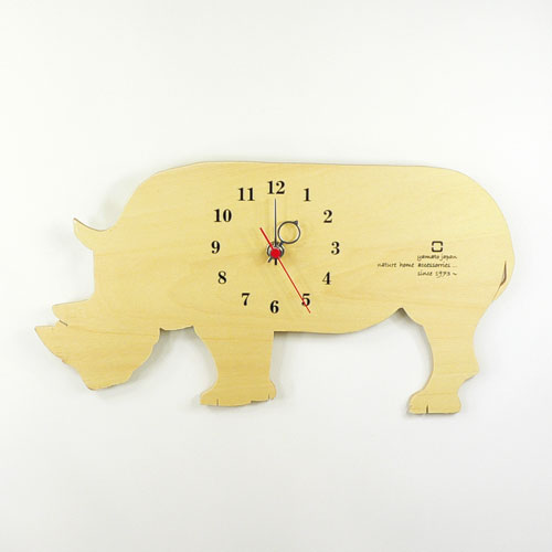 ヤマト工芸 掛時計 SHADOW W YK10-104 サイの写真