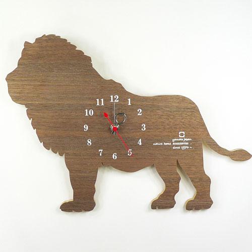 ヤマト工芸 掛時計 SHADOW W YK10-104 ライオン