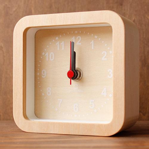 ヤマト工芸 置時計 ROUND CLOCK-stand type- YK15-104-Wh 白文字の写真