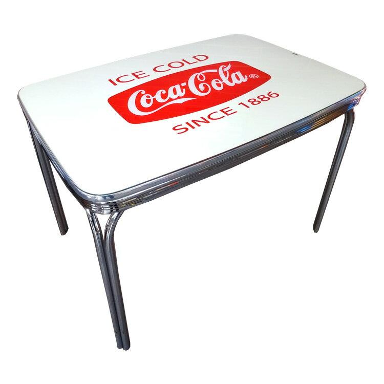 COCA-COLA BRAND コカコーラブランド ダイナーテーブル Coke Dinner Table with Glass Top PJ-600DL