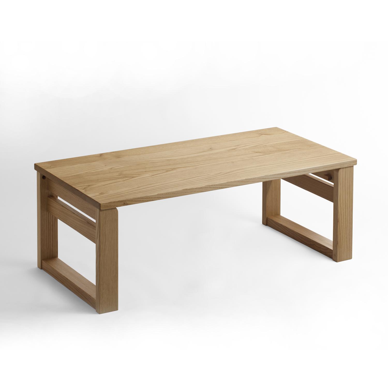 オークヴィレッジ・Oak Village 折りたたみ小机 ナチュラル 折りたたみ ローテーブル 二月堂机の写真