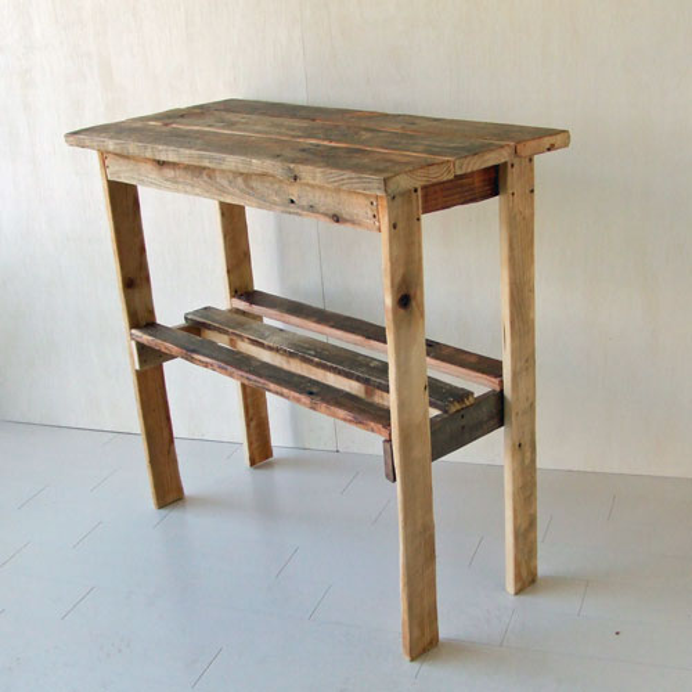 リサイクルウッド コンソールテーブルの写真