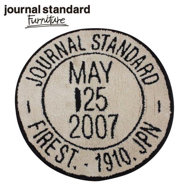 journal standard Furniture  JSF STAMP RUG BEIGE JSFスタンプ ラグマット ベージュ 直径73cm B009KCMMY