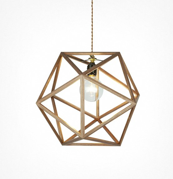 CONFETTI  コンフェッティAPROZ  アプロス 100W  ペンダントライト 照明 ライト オブシェ 木 無垢 AZP-544-BRの写真