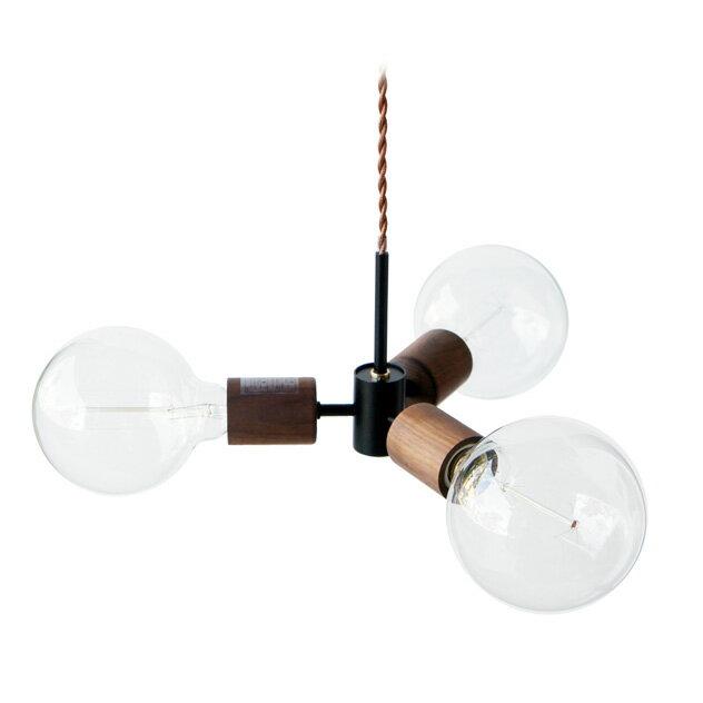 APROZ アプロス:MEEL/3P ウッドペンダントライト3灯 AZP-601-BKの写真