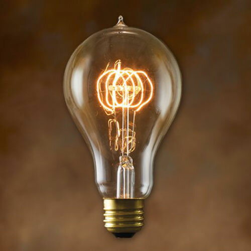 エジソン 電球 e26 40w Edison Bulb A-Shape L 40w エジソンバルブ Aシェイプ Lの写真