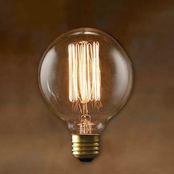 Edison Bulb GLOBE Sサイズ グローブ エジソンバルブ カーボン電球 インテリア 照明 口金E26タイプの写真