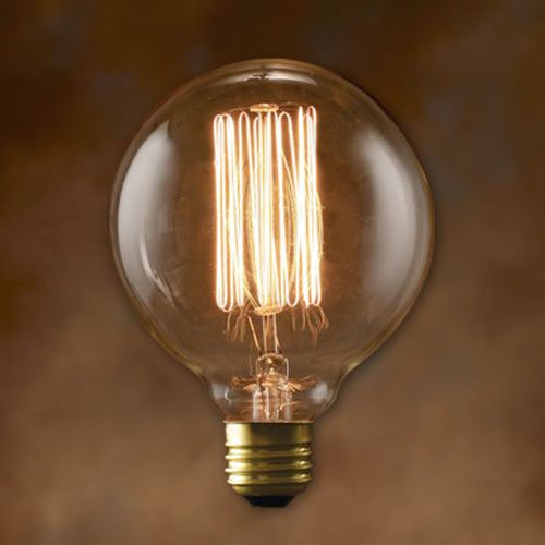 エジソン 電球 e26 60w Edison Bulb Globe 60W エジソンバルブ グローブの写真