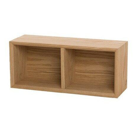 イノセント天然木タモ突板壁に優しく取付け簡単飾りボックスWallhangingBox2ナチュラル