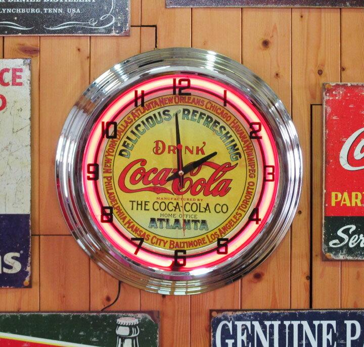 ネオンクロック Coca Cola ATLANTA コカコーラ アトランタ ネオン時計