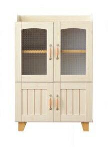 フレンチカントリー 収納 カリーナミニ 食器棚 00-122