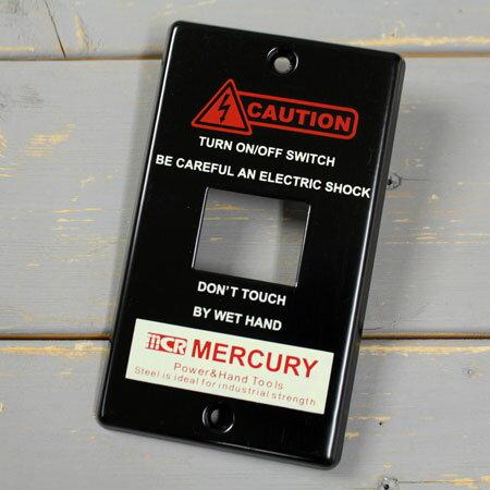 マーキュリー MERCURY スイッチプレート1ヶ口 マットブラック MESWPL1M 6776345の写真
