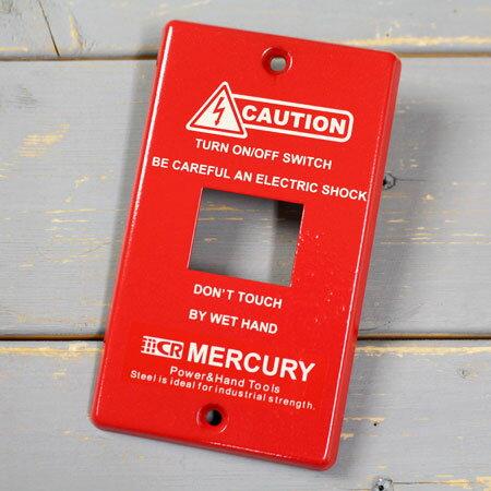 マーキュリー MERCURY スイッチプレート1ヶ口 レッド MESWPL1R 6776310の写真