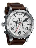 NIXON 腕時計 ニクソン 腕時計 THE 51-30 CHRONO LEATHER SILVER/BROWN(51-30 クロノ シルバー/ブラウン) NA1241113-00 メンズ 02P26Jan12