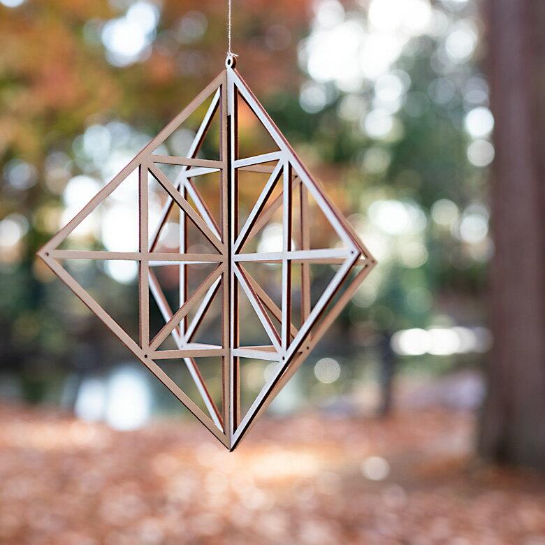 kito キト 木製 オーナメント ラージ 白樺 スクエア KITO09
