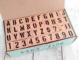 ステンシル スタンプ アルファベット 数字   lサイズ   0088728-0001 u.s.stencils stamp ハンコ