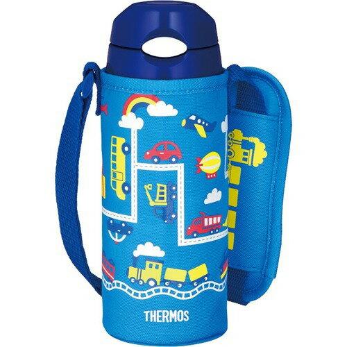 THERMOS(サーモス)真空断熱ストローボトル FHL-402F ブルーネイビー
